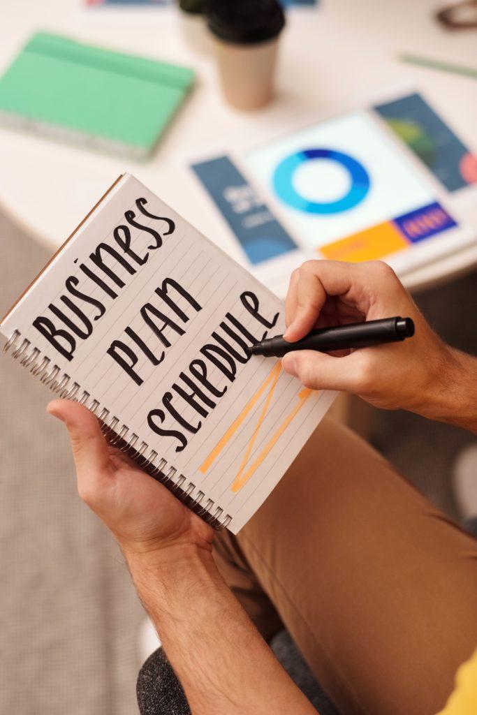 bussines plan schedule ιστοσελίδων